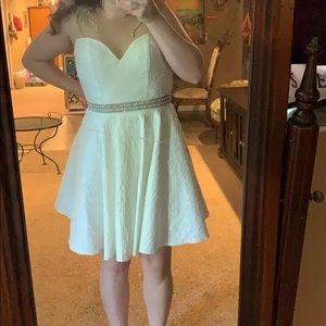 Beautiful white lace formal dress!